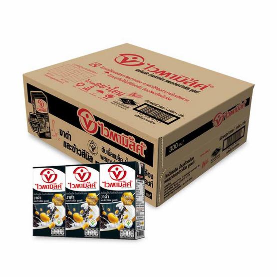 ไวตามิ้ลค์ นมถั่วเหลืองUHT รสดับเบิ้ลแบล็ค 300 มล. (ยกลัง 36 กล่อง)