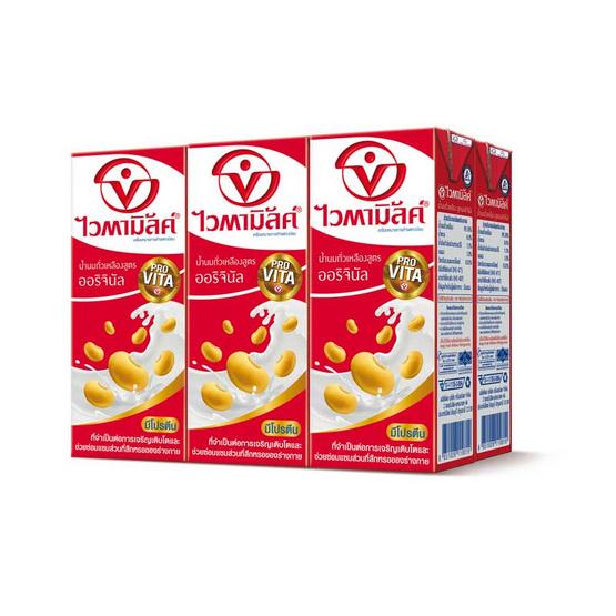 ไวตามิ้ลค์ นมถั่วเหลือง UHT รสออริจินัล 250 มล. (ยกลัง 36 กล่อง)