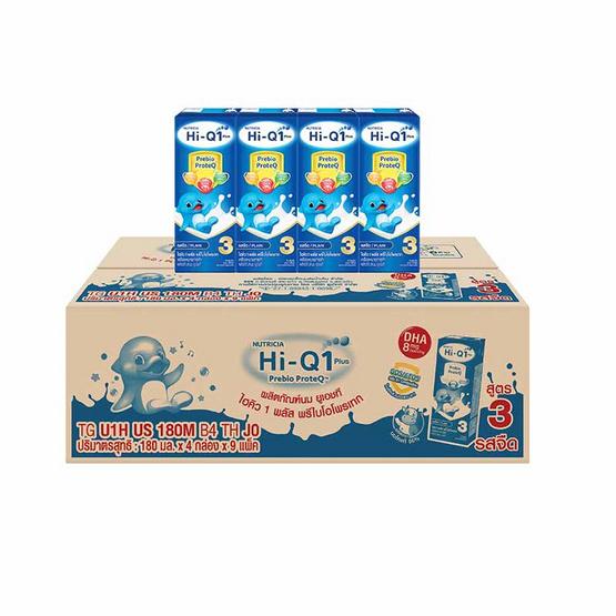 ไฮคิว 1 พลัส นมUHT รสจืด 180 มล. (ยกลัง 36 กล่อง)