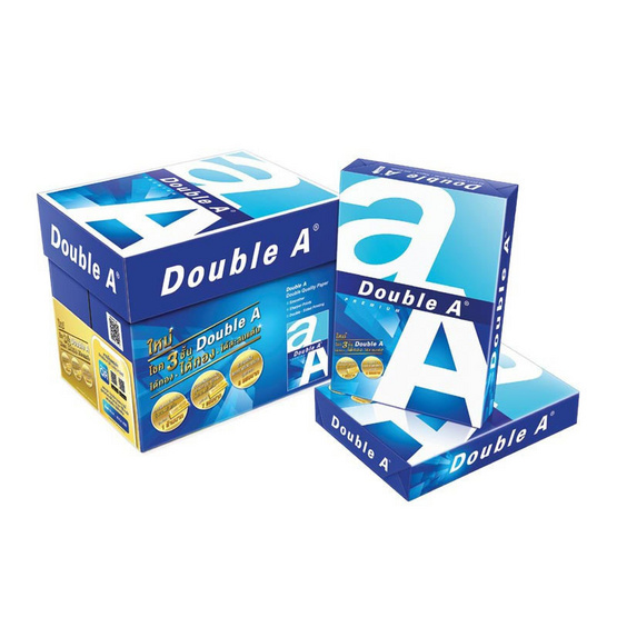 Double A กระดาษถ่ายเอกสาร A4 80 แกรม (5 รีม/กล่อง)
