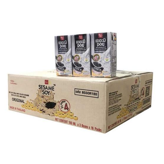 เซซามิซอย นมถั่วเหลืองUHT 180 มล. (ยกลัง 48 กล่อง)