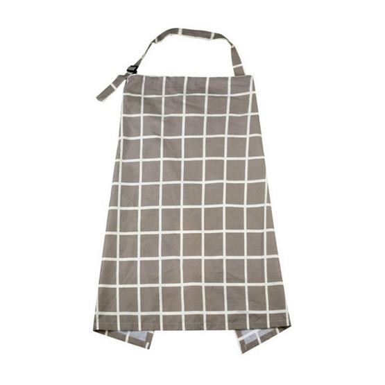 A BLOOM ผ้าคลุมให้นมลูก พิมพ์ลาย ผ้าคอตตอน (ลายตาราง)
