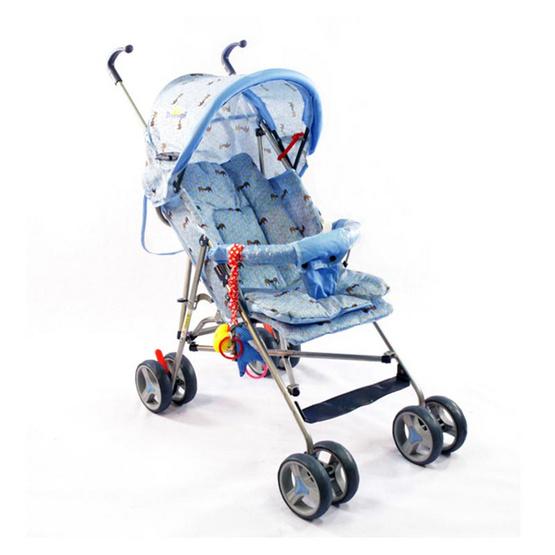 ชูชอบ รถเข็นเด็กอ่อน สีฟ้า คละลาย รุ่น 579