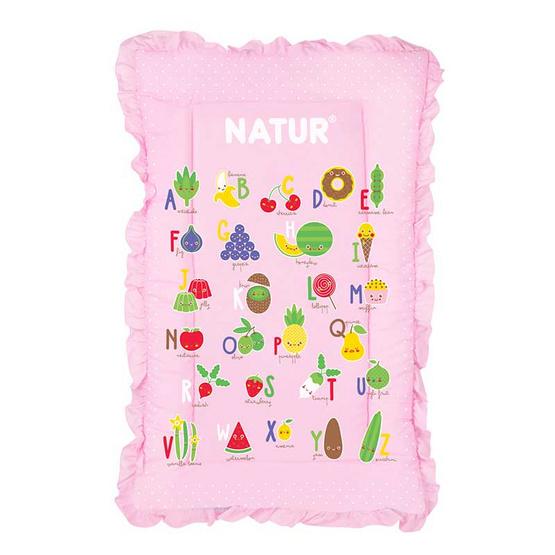 NATUR ที่นอนปิกนิก ขนาด 22x35 นิ้ว สีชมพู
