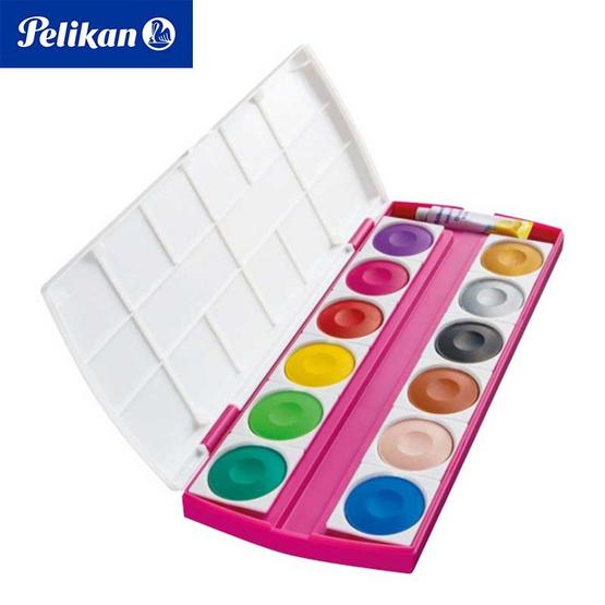 Pelikan สีน้ำหลุมทึบแสง PI 12 ลาย Princess 12 สี