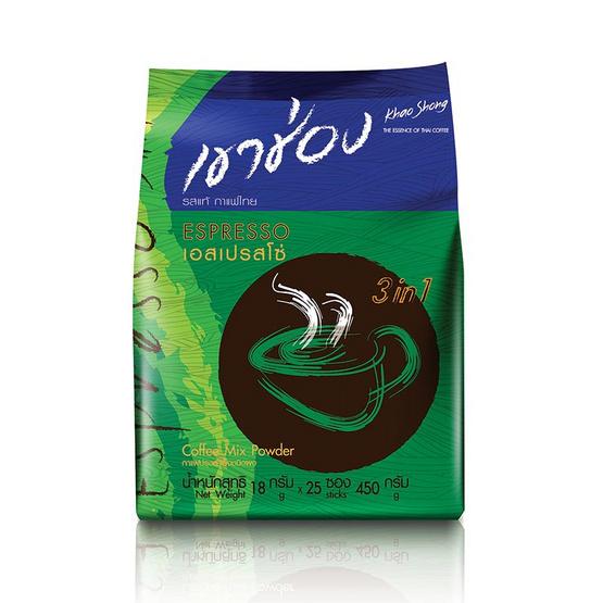 กาแฟเขาช่อง3in1เอสเปรสโซ่ 450กรัม 25ซอง