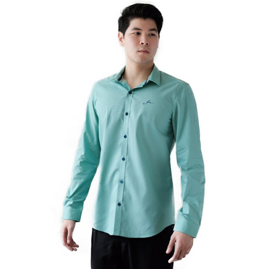 FQ&L  เสื้อเชิ้ตผู้ชาย ( MMFLJ-101-S5) สี BLUE NAVY
