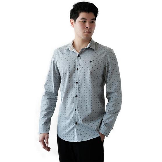 FQ&L  เสื้อเชิ้ตผู้ชาย ( MMFLJ-110-W6) สี LIGHT GRAY