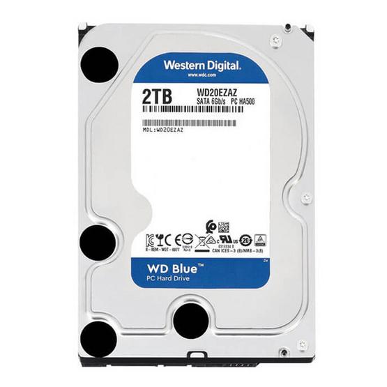 """WD Caviar Blue 3.5"""" HDD SATA3(6Gb/s) 256MB 5400RPM 2 TB (WD20EZAZ)"""