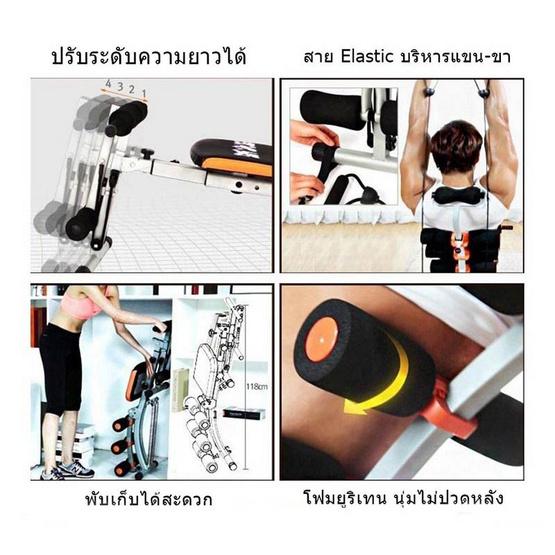 Thai Sun Sport Six Pack Care เครื่องบริหารหน้าท้อง พร้อมสายแรงต้าน 2 เส้น
