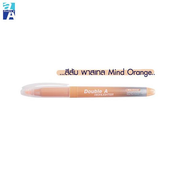 Double A ปากกาเน้นข้อความMild Color คละสีพาสเทล(แพ็ค5ด้าม)