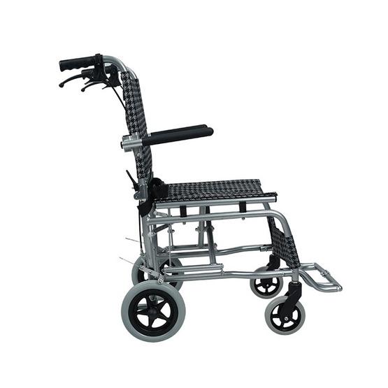 Fasicare TAVEL รถเข็นผู้ป่วยอะลูมิเนียมอัลลอย รุ่น FAL-115BL เบาะสีเทาดำ ฟรี!กระเป๋าใส่รถเข็น