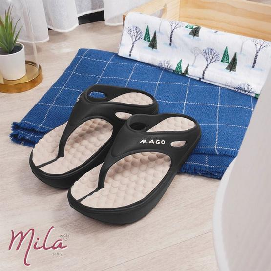 MAGO รุ่น MILA สีดำ รองเท้าสุขภาพ