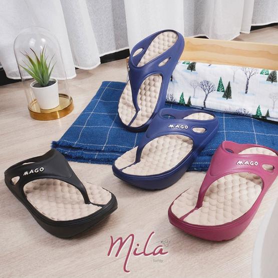 MAGO รุ่น MILA สีกรม รองเท้าสุขภาพ