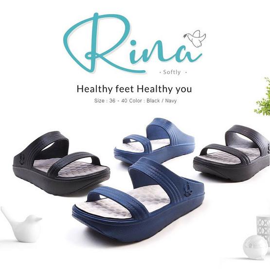 MAGO รุ่น RINA สีดำ รองเท้าสุขภาพ