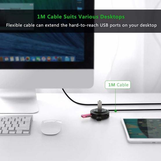 UGREEN รุ่น 20277 USB 2.0 4 พอร์ตสำหรับ PC แล็ปท็อป
