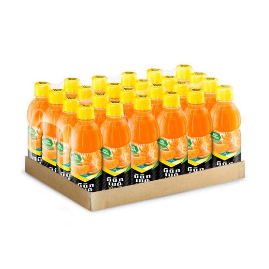 มินิทเมด พัลพี น้ำส้มแมนดาริน ผสมเนื้อส้ม 335 มล. (ยกลัง 24 ขวด)