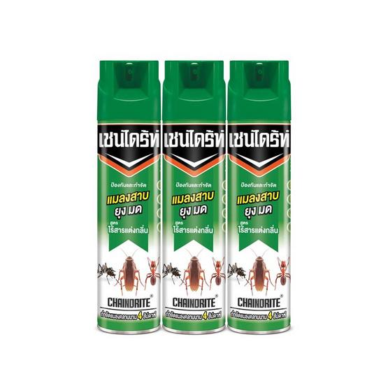 เชนไดร้ท์ ไร้กลิ่นเขียวแมลงสาบ 600 มล. (แพ็ก 3 ชิ้น)
