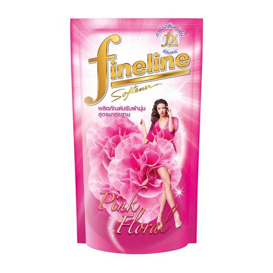 ไฟนไลน์ น้ำยาปรับผ้านุ่ม กลิ่นพริ้ง ฟลอรัล ถุงเติม สีชมพู 580 มล.