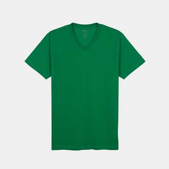 KOO'S เสื้อยืดคอวีแขนสั้นเขียว