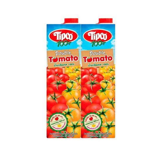ทิปโก้ ดับเบิ้ล โทเมโท น้ำมะเขือเทศ 100% 1,000 มล.
