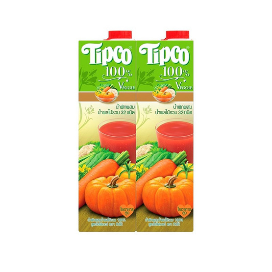 ทิปโก้ น้ำผักผสมน้ำผลไม้รวม 32 ชนิด 1,000 มล.