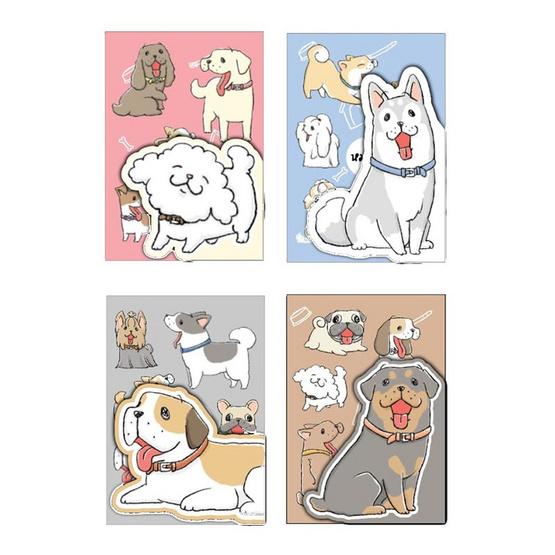 สมุดปกไดคัต A5 คละลายหมาจ๋า (แพ็ก 4 เล่ม)