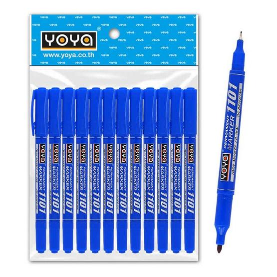 ปากกาเขียนแผ่นซีดี 2 หัว 1101 สีน้ำเงิน (แพ็ก 12 ด้าม)