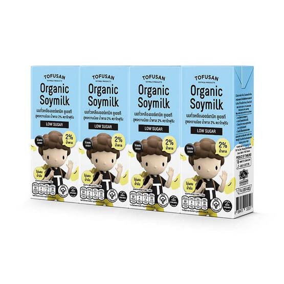 โทฟุซัง นมถั่วเหลืองUHT สูตรหวานน้อย 180 มล. (ยกลัง 48 กล่อง)