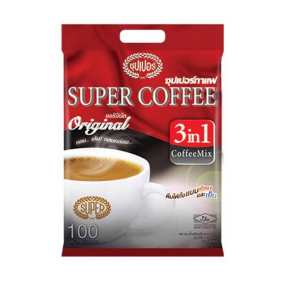 ซุปเปอร์กาแฟ 3in1 ออริจินัล 20 กรัม (100 ซอง/ถุง)
