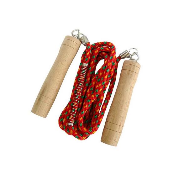 Thai Sports เชือกกระโดด เชือกถัก สีแดง
