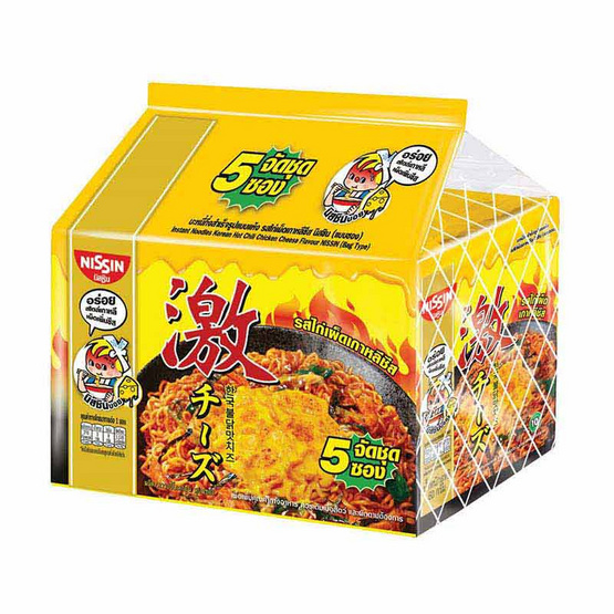 นิสชินซอง รสไก่เผ็ดเกาหลีชีส 60 กรัม แพ็ก 5 ซอง