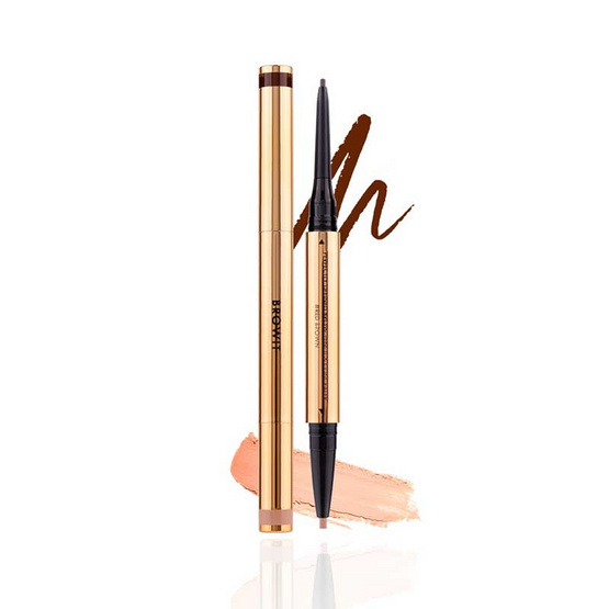 Browit ดินสอเขียนคิ้วและคอนซีลเลอร์ Perfectly Defined Brow Pencil & Concealer #Red Brown