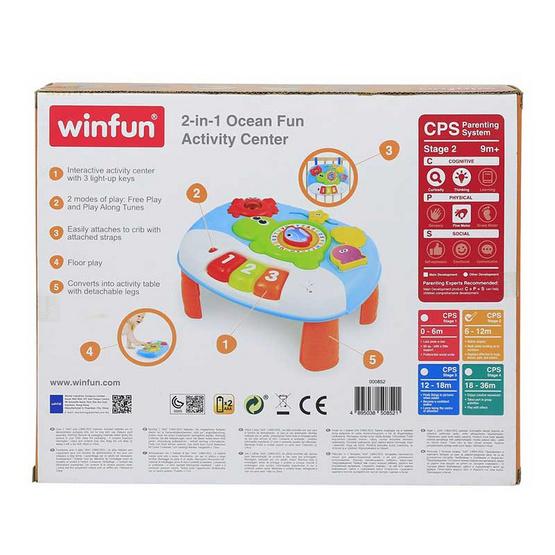 Winfun โต๊ะกิจกรรมส่งเสริมการเรียนรู้