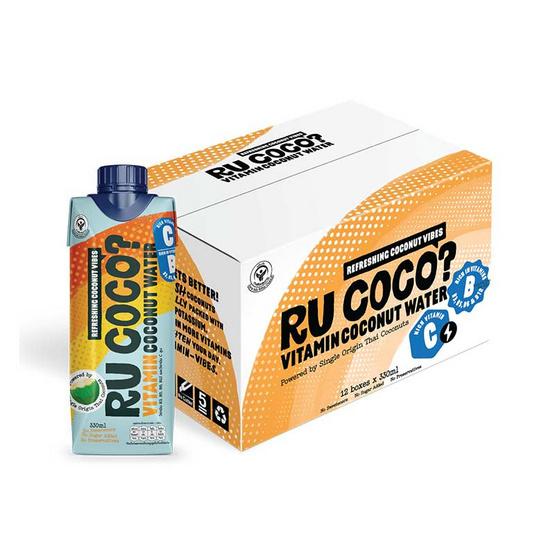 อาร์ยูโคโค่ น้ำมะพร้าว วิตามินซีบี 330 มล. (ยกลัง 12 กล่อง)