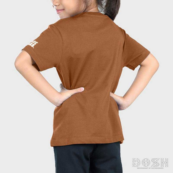 DOSH เสื้อยืดคอกลมแขนสั้น เด็ก Unisex ลาย We Bare Bears สีน้ำตาล FBBBT5005-BR