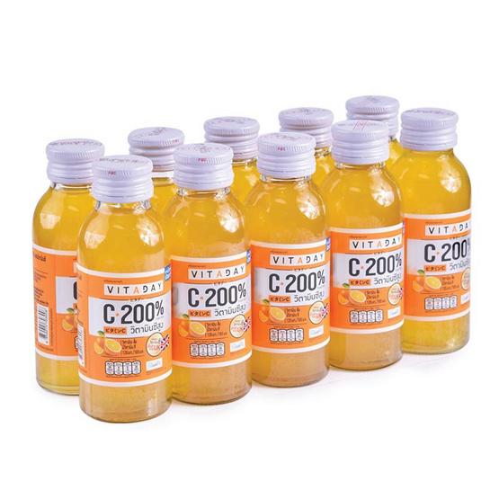 วิตอะเดย์ น้ำส้มเข้มข้น ผสมวิตามินซี 100 มล. (แพ็ก 10 ขวด)