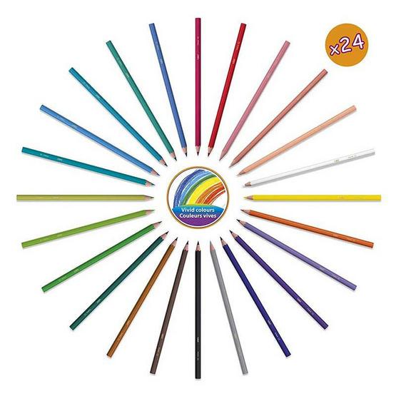 BIC Kids (1แถม1) ดินสอสีไม้ Tropicolors 24 สี