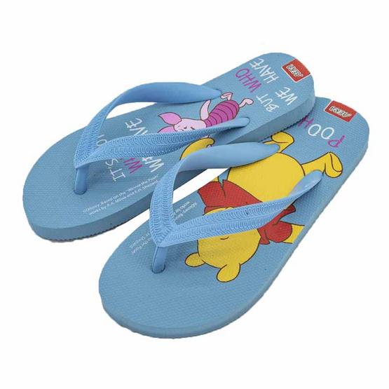 รองเท้าแตะลายหมีพูห์PH3573 สีฟ้า