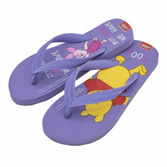 รองเท้าแตะลายหมีพูห์PH3573 สีม่วง
