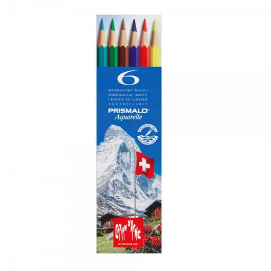Caran D'Ache ดินสอสีระบายน้ำ Prismalo 6 สี กล่องกระดาษ 999.306