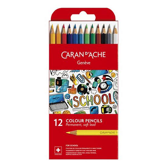 Caran D'Ache ชุดสีไม้ รุ่น School Line 12 สี 1291.712