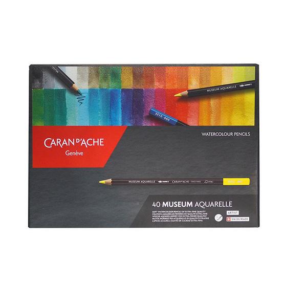 Caran D'Ache ชุดดินสอสีระบายน้ำ Museum 40 สี 3510.340