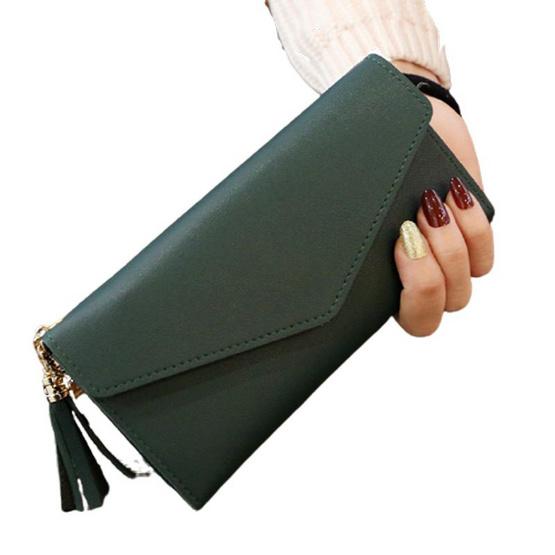 UGI กระเป๋าสตางค์ผู้หญิงแฟชั่น แบบใบยาว สีเขียว