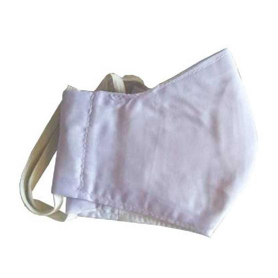หน้ากากผ้าสีขาว สำหรับเด็กโต อายุ 3-7 ปี มีช่องใส่แผ่นกรอง แถมแผ่นกรอง PM 2.5 จำนวน 2 ชิ้น