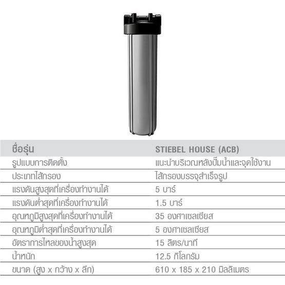 STIEBEL ELTRON เครื่องกรองน้ำใช้ STIEBEL HOUSE ACTIVATED CARBON BLOCK (ACB-2)