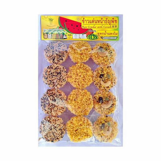 ทวีพรรณ ข้าวแต๋นน้ำแตงโม หน้าธัญพืช 140 กรัม (แพ็ก 6 ชิ้น)