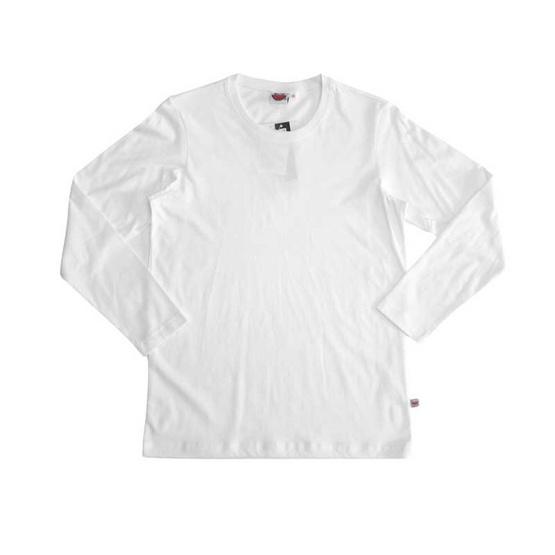 แตงโม เสื้อยืดคอกลมแขนยาว SS สี SS01 ขาว
