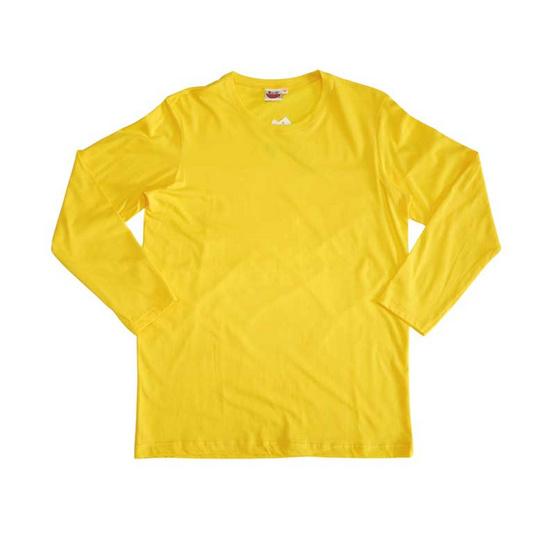 แตงโม เสื้อยืดคอกลมแขนยาว SS สี SS24 เหลืองสด