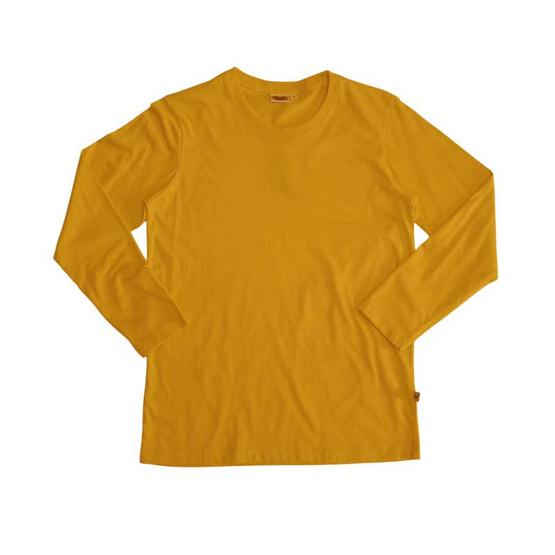 แตงโม เสื้อยืดคอกลมแขนยาว SS สี SS26 มัสตาร์ด